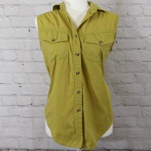 THE NORTH FACE Green Sleeveless Button-Up Shirt